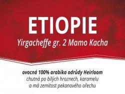 ETHIOPIA YIRGACHEFFE - Arabica 1000g - DOPRAVA ZDARMA po celé ČR